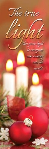 The True Light (John 1:9, NIV) Bookmarks, 25