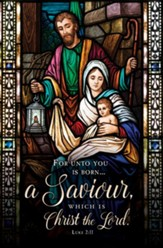 Born a Saviour (Luke 2:11) Bulletins, 100