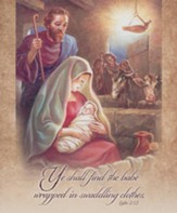 Ye Shall Find the Baby (Luke 2:12) Large Bulletins, 100