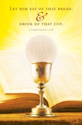 First Communion (1 Corinthians 11:28, KJV) Bulletins, 100