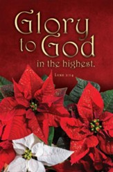Glory to God Poinsettia (Luke 2:14) Bulletins, 100