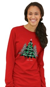 Joy To The World Shirt, Red, X-Large