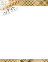Open Bible Shard of Wheat Letterhead, 50