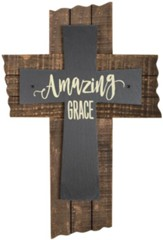 Amazing Grace Slate Wall Cross