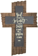 Serenity Prayer Slate Wall Cross