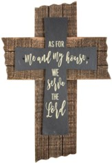 As For Me and My House, We Will Serve the Lord Slate Wall Cross