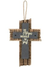 Hope Anchors the Soul Mini Slate Cross