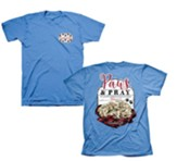 Paws and Pray Shirt, Blue, X-Large
