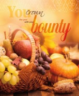 With Your Bounty Large Thanksgiving Bulletins, 100