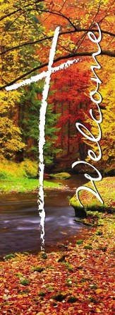 X-Stand Banner: Welcome Fall (23 inch x 63 inch)