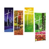 Welcome Seasons X-Stand Banners, Set of 4 (23 inch x 63 inch)