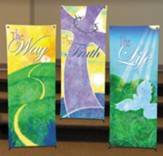 Life of Christ X-Stand Banners, Set of 3 (23 inch x 63 inch)