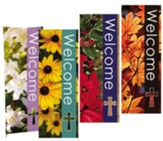 Seasonal Welcome X-Stand Banners, Set of 4 (23 inch x 63 inch)