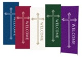 Welcome X-Stand Banners, Set of 5 (23 inch x 63 inch)