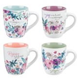 Rejoice Mugs, Set of 4