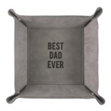 Best Dad Ever Snap Together Leather Tray