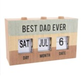 Best Dad Ever Perpetual Desk Calendar