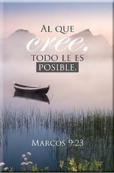 Placa de Madera: Todo es Posible  (All Things Possible, Spanish Wood Plaque)