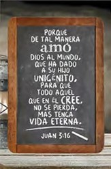 Placa de Madera: Amo Dios al Mundo  (God So Loved the World, Spanish Wood Plaque)
