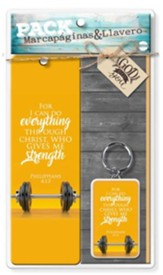 For I Can Do Everything Through Christ, Bookmark + Key Chain Gift Set