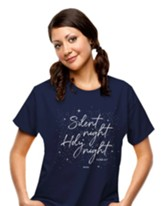 Silent Night Shirt, Navy, Small