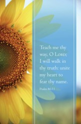 Teach Me Thy Way (Psalm 86:11, KJV) Bulletins, 100