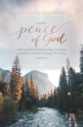 Peace of God (Philippians 4:7, KJV) Bulletins, 100