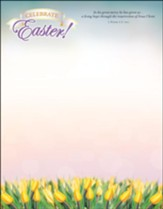 Celebrate Easter! (1 Peter 1:3, NIV) Letterhead, 100