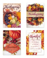 Grateful Harvest (KJV) Box of 12 Thanksgiving Cards