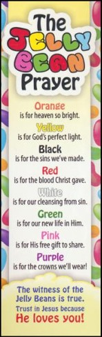 Jelly Bean Prayer (Luke 24:34, NIV) Bookmarks, 25