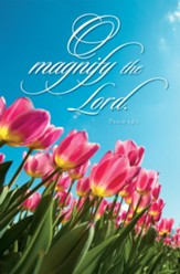 O Magnify the LORD (Psalm 34:4) Bulletins, 100