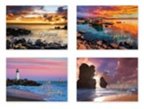 Sunset Shores (KJV) Box of 12 Sympathy Cards