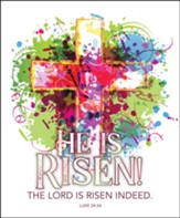 The Lord Is Risen Indeed (Luke 24:34, KJV) Bulletins, 100
