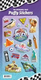 The Incredible Race: Puffy Sticker Set
