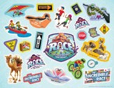 The Incredible Race: Logo & Clip Art Sticker Sheet (pkg. of 10)