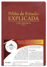Biblia de Estudio Explicada con Concordancia RVR 1960, Marron  (RVR 1960 Explicit Study Bible with Concordance, Brown)