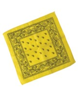 Yee-Haw: Yellow Bandannas (pkg. of 12)