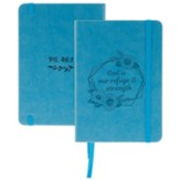 God Is Our Refuge and Strength Notebook, Blue