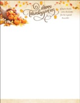 Happy Thanksgiving (Psalm 107:1) Letterhead, 100