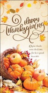 Happy Thanksgiving (Psalm 107:1) Offering Envelopes, 100