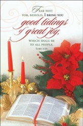 Good Tidings of Great Joy (Luke 2:10, KJV) Bulletins, 100