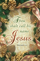 Call His Name Jesus (Matthew 1:21, KJV) Bulletins, 100
