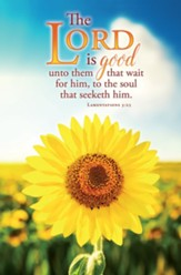 The Lord Is Good (Lamentations 3:25, KJV) Bulletins, 100