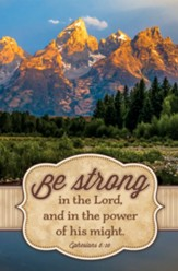 Be Strong in the Lord (Ephesians 6:10, KJV) Bulletins, 100