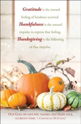 Gratitude, Thankfulness (1 Chronicles 29:13, NIV) Bulletins, 100