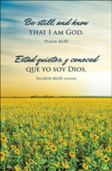 Be Still / Estad Quietos (Psalm 46:10 / Salmos 46:10, RVR1960) Bulletins, 100