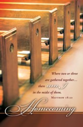 Where Two or Three are Gathered (Matthew 18:20, KJV) Bulletins, 100