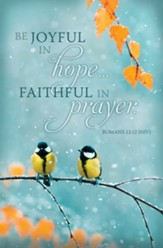 Joyful in Hope, Faithful in Prayer (Romans 12:12, NIV) Bulletins, 100