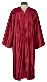 Gathered Choir Robe, Burgundy, Medium