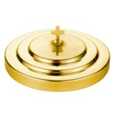 Polished Aluminum Communion Tray Cover, Brass Tone